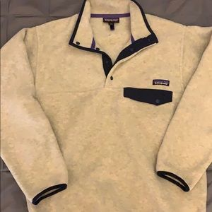 Patagonia mens Synchilla fleece snap pullover.